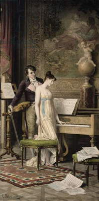 The Duet (mezzotint)