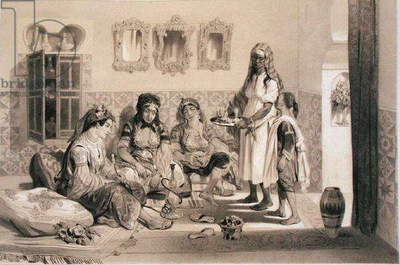 Women of Algiers, from a volume commemorating the French Expeditionary Force which captured Algiers in 1830 (litho)