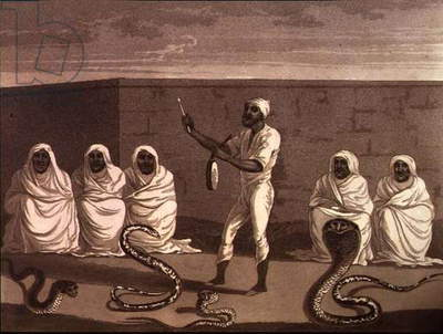 An African Juggler, a Snake Charmer from Morocco, pub. by Henry Colburn, 1816 (engraving)