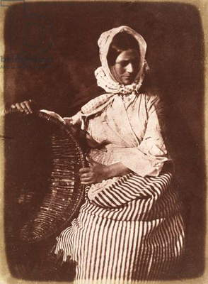 Mrs Hall, Newhaven, c.1843-47 (salt paper print from calotype negative) (see also 224279, 224280)