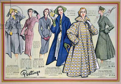 Advertisement for 'Ponting's Spring Collection', 1950s (colour litho)