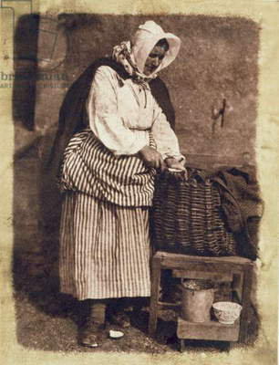 Oyster Woman, 1843-47 (salt paper print from calotype negative) (see also 224278, 224280)