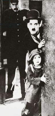 Charlie Chaplin and Jackie Coogan in 'The Kid', 1920 (b/w photo)