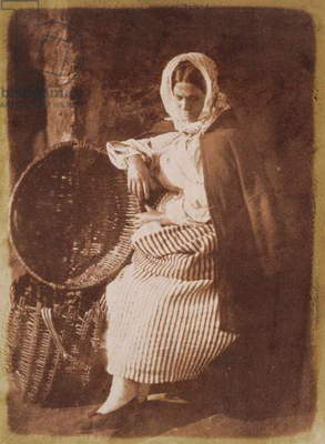 Mrs Hall, Newhaven, 1843-47 (salt paper print from calotype negative) (see also 224278, 224279)