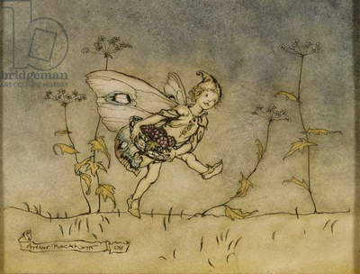 Fairy, illustration from 'A Midsummer Night's Dream', published by Heinemann, 1908 (pen, ink and w/c on paper)