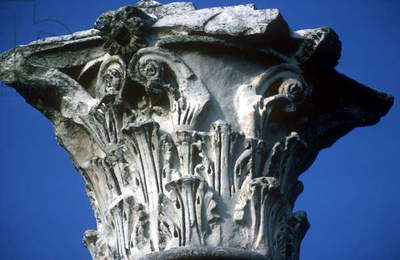 Corinthian capital from the Ceres Temple (photo)