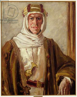 Portrait of T.E. Lawrence (oil on canvas)