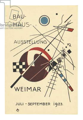 Postcard for the Bauhaus Exhibition, July - September 1923 (colour litho)