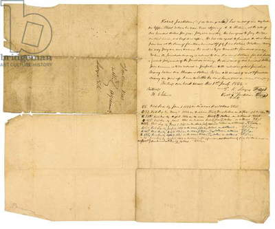 Rental agreement between Robert Jackson and E.K. Sayre, 1844 (pen & ink on paper)