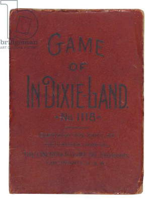 Box for the 'Game of In Dixie-Land', Cincinnati, 1897