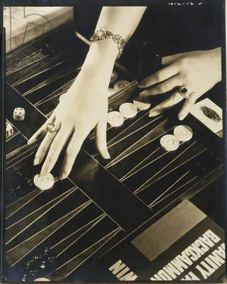 The Play of Modern Hands (hands of Ilka Chase (1900-78) Backgammon) 1931 (gelatin silver photo)