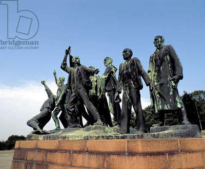 'Resistance in the Camp' by Fritz Cremer, commemorating the uprising and liberation of the Buchenwald concentration camp, Germany, photographed 2001 (photo)