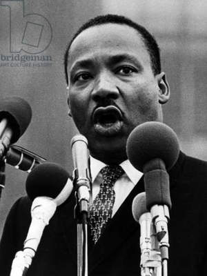 Dr. Martin Luther King, 1960s (b/w photo)