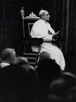 Pope Pius XII (b/w photo)