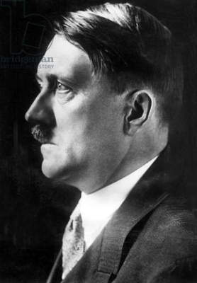 Adolf Hitler (b/w photo)