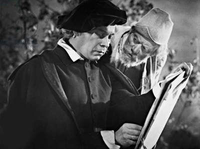 Ewald Balser as Rembrandt and Paul Rehkopf in 'Rembrandt', 1942 (b/w photo)