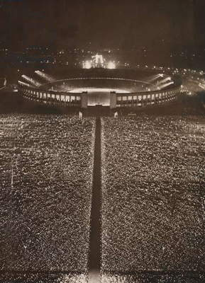 Rally at the Olympic Stadium in Berlin, 1937 (photo)