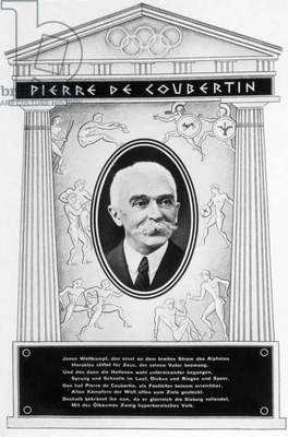Pierre de Coubertin, 1936 (b/w photo)