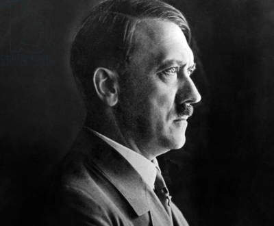 Profile portrait of Adolf Hitler, 1938 (b/w photo)