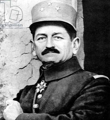 French officer general Mangin, 1916, after the capture of fort Douaumont during Verdun Battle