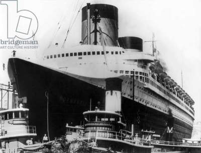 Liner Normandy (built in SaintNazaire and launched on october, 29 1932) of the Transatlantic Company