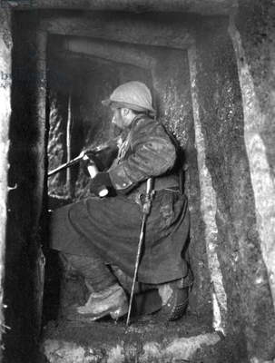 French miner soldier during battle of Verdun (France) 1916