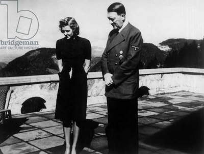 Eva Braun and Adolf Hitler at Berghof, Berchtesgaden, Bavaria, c. 1942