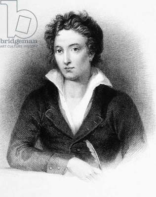 Percy Bysshe Shelley (1792-1822) english poet, engraving