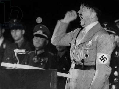 Adolf Hitler making a speech in the 40's