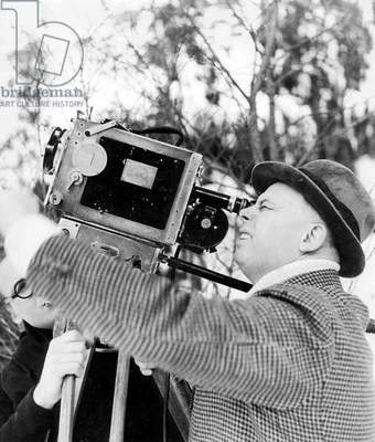 director Jean Renoir filming the last outdoors shot for film The grande Illusion in Chamonix in 1936