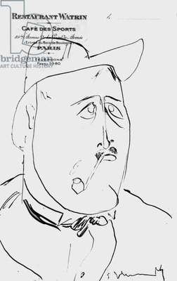 French poet and writer Guillaume Apollinaire, c.1907-8 (litho)