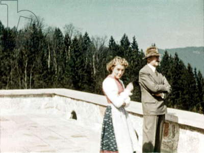 Adolf Hitler with his mistress Eva Braun at the Berghof in Berchtesgaden Bavaria c.1940-1945