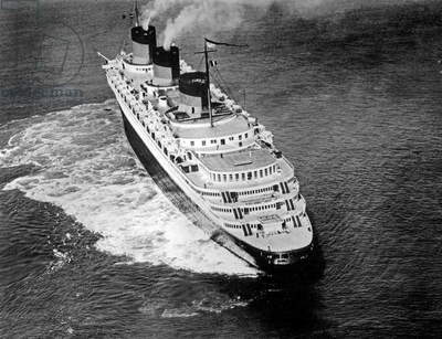 transatlantic liner Normandy (built in SaintNazaire and launched on october, 29 1932) of the Transatlantic Company