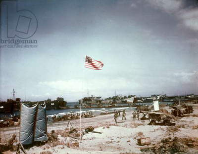 landing of Americans on Luzon island (Philippines) january 9, 1945 (Pacific war)