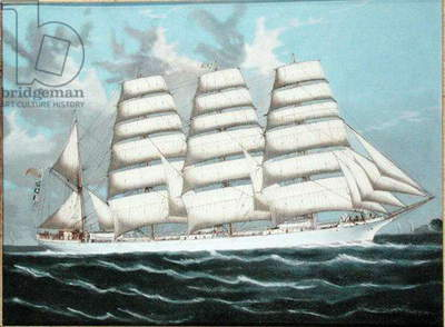 The Barque 'Austrasia' in Fair Weather, c.1900 (oil on canvas) (see 195176)