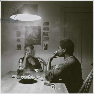 Untitled (Man Smoking) from the Kitchen Table series, 1990 (gelatin silver print)