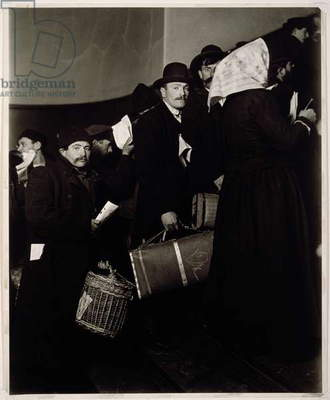 Climbing into the Promised Land, Ellis Island (gelatin silver print)