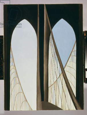 Brooklyn Bridge, 1948 (oil on masonite panel)