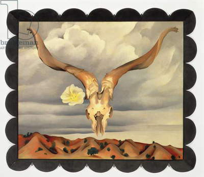 Ram's Head, White Hollyhock-Hills, 1935 (oil on canvas)