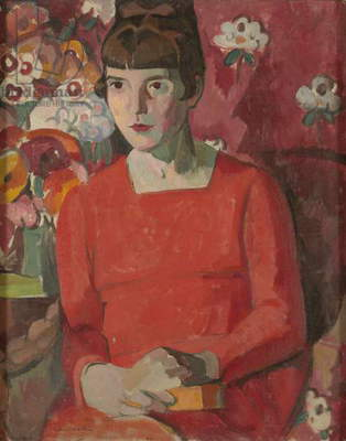 Portrait of Katherine Mansfield, 1918 (oil on canvas)