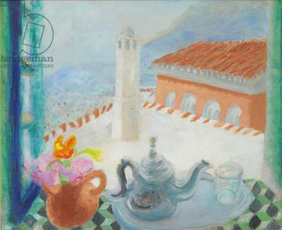 Chechovan, Morocco, c.1971 (oil on canvas)
