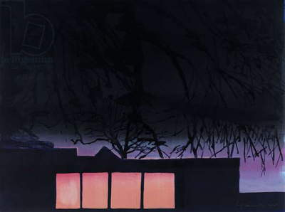 Night Studio 1, 2008 (monotype)