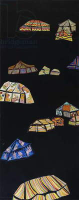 14 Tents, 2008 (monotype)