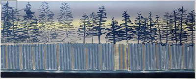 Motorway Trees, 2007 (monotype)