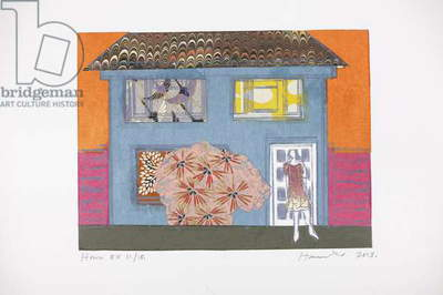 House 11/15, 2013 (Chine-collé drypoint)