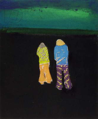 Two Hippies, 2004 (etching)