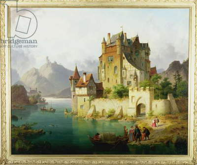 The Castle Ferry, c.1851 (oil on canvas)