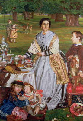 Lady Fairbairn with her Children, 1864 (oil on canvas) (for detail see 89612)