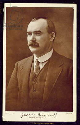 James Connolly (1868-1916) photographed by Lafayette, Dublin, c.1910 (sepia photo)