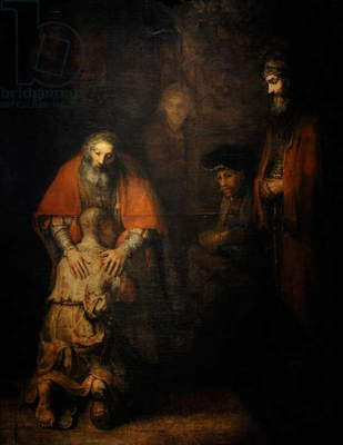 Rembrandt Harmenszoon van Rijn (1606-1669). The return of the prodigal son, Ca. 1668.